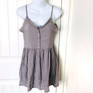 Buckle Sea Gypsies Gray Tunic Top or Mini Dress